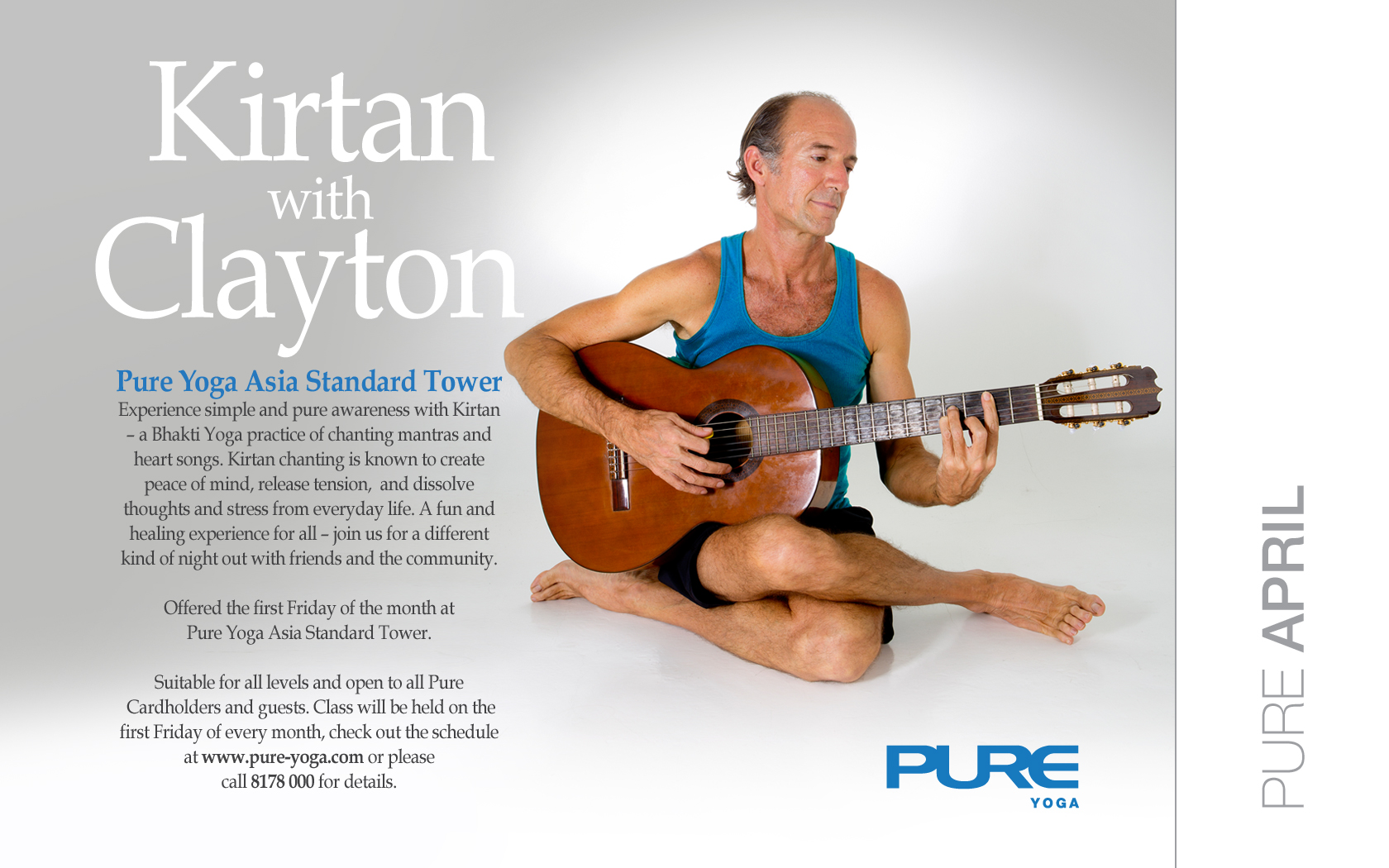 Kirtan with Clayton and Friends, Hong Kong @ Pure Yoga, Asia Standard Tower Location | Hong Kong Island | Hong Kong